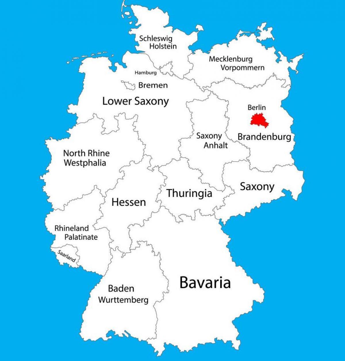Karta Tyskland Berlin Karta 2020