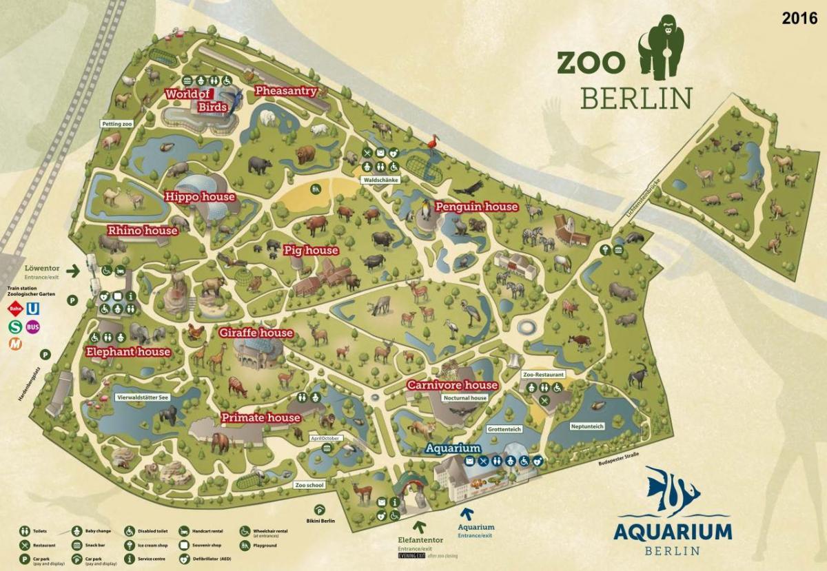 Berlin Zoo Karta.Berlin Zoo Karta Karta Over Berlin Zoo Tyskland