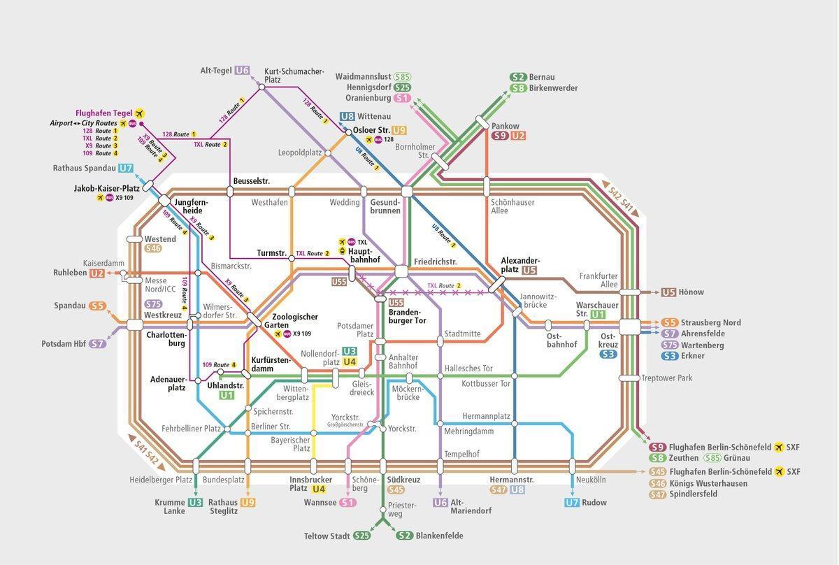 Karta Berlin Bvg.Buss Txl Karta Bvg Buss Karta Tyskland