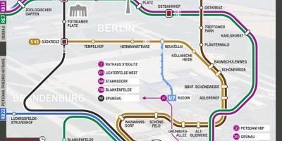 Karta Tyskland Tag.Berlin Map Kartor Berlin Tyskland